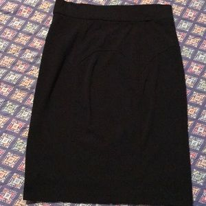 Tracy Reese black knit, knee length skirt size M